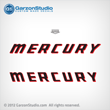 Mercury 18 hp decal sets Set of decals for 1980-1982 motors
