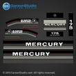 1986 1987 1988 Mercury 175 hp decals decal set 175hp