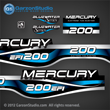 1999 2000 2001 Mercury 225 hp EFI Bluewater  decal set 808562A99