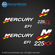 Mercury Racing 1999 2000 2001 2002 2003 2004 2005 2006 225 hp 225hp 225xs 225 xs efi decal set Mercury racing decals for your motor cowling Custom Built by Mercury Racing M logo decals kit sticker stickers