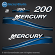 05 06 07 2005 2006 2007 200 hp 200hp Mercury FourStroke optimax decal set decals blue