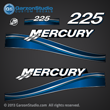 05 06 07 2005 2006 2007 225 hp 225hp Mercury FourStroke optimax decal set decals blue