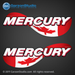Mercury outboard stickers canada flag